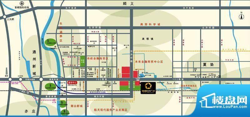 雷捷时代广场交通图