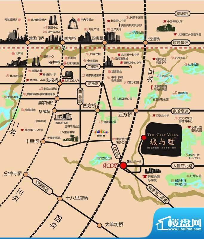 城与墅交通图