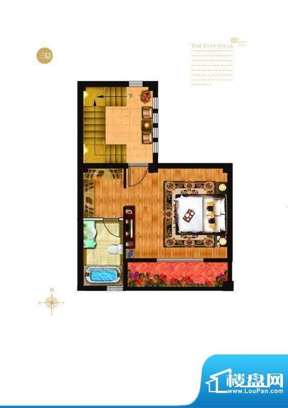 城与墅c'1户型三层 4室3厅4卫