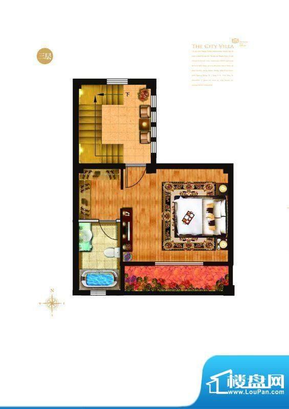 城与墅c4户型三层 4室3厅4卫1厨