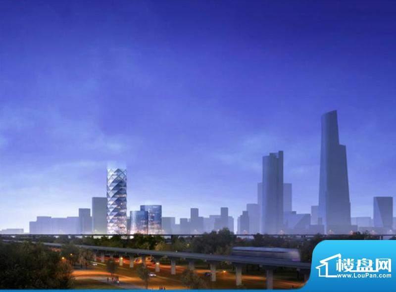 保利中央公园塔楼机场高速角度效果图