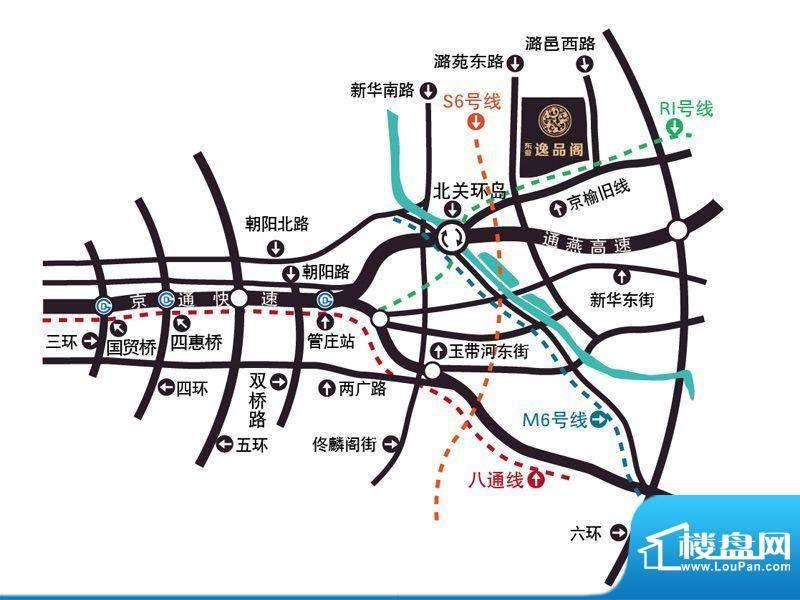 东亚逸品阁交通图