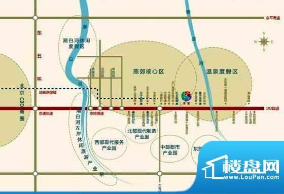 北京锋巢区位交通图