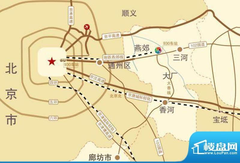 北京锋巢交通图