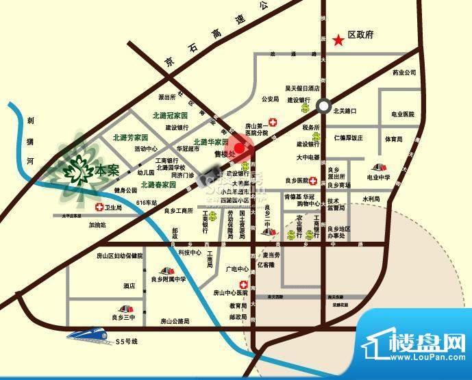 北潞尚界交通图