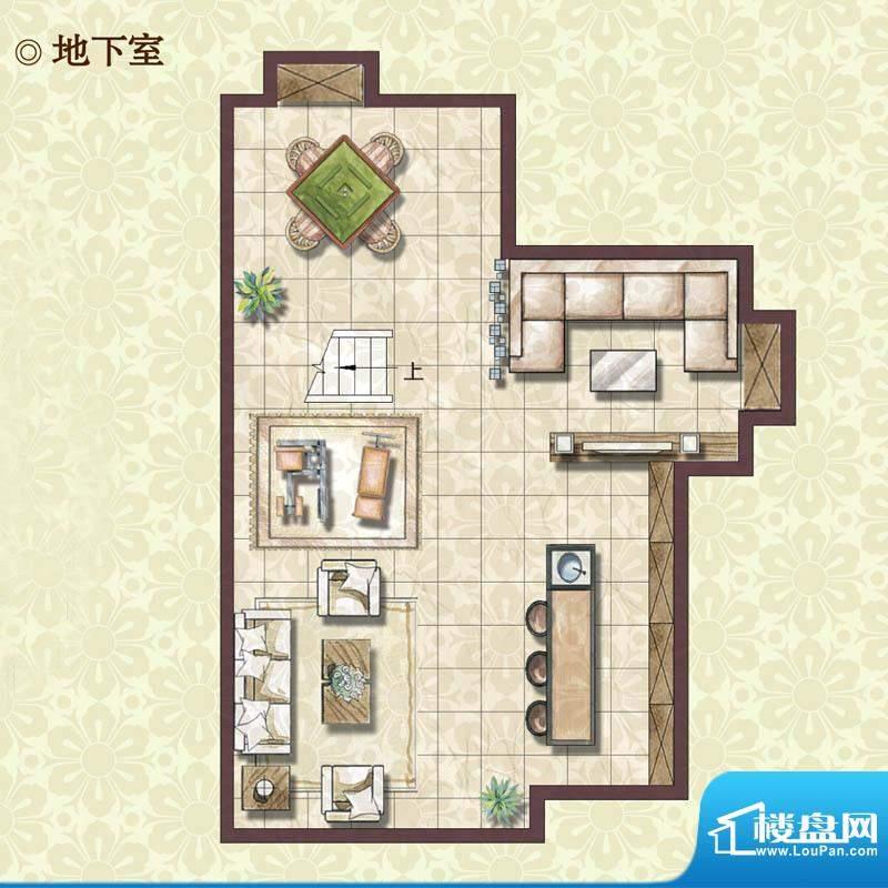 绿地蔷薇四季雍景美墅地下室户面积:133.00平米