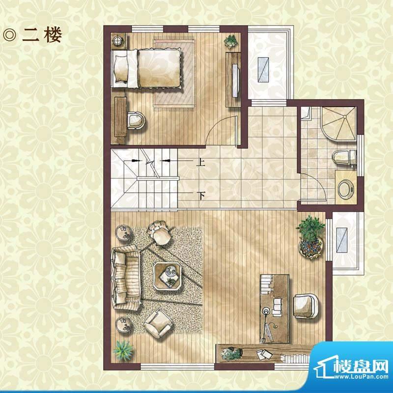 绿地蔷薇四季雍景美墅2楼户型图面积:133.00平米