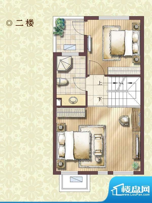 绿地蔷薇四季尊崇艺墅2楼户型图面积:99.00平米