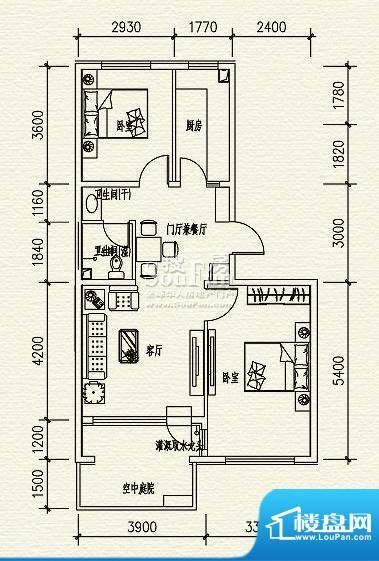 高教新城·学区嘉园惠风园4号楼面积:87.00平米