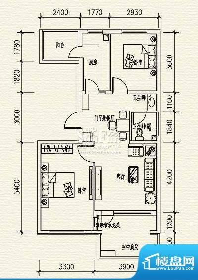高教新城·学区嘉园惠风园4号楼面积:89.00平米