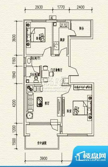高教新城·学区嘉园惠风园4号楼面积:90.00平米