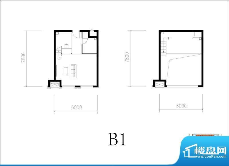 北京城建·N次方21#综合楼B1开面积:65.00平米