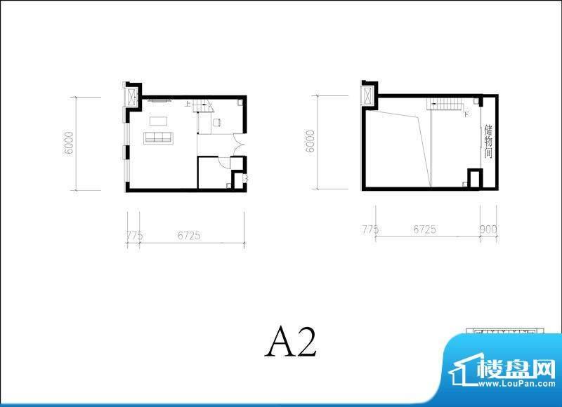 北京城建·N次方21#综合楼A2开面积:65.00平米