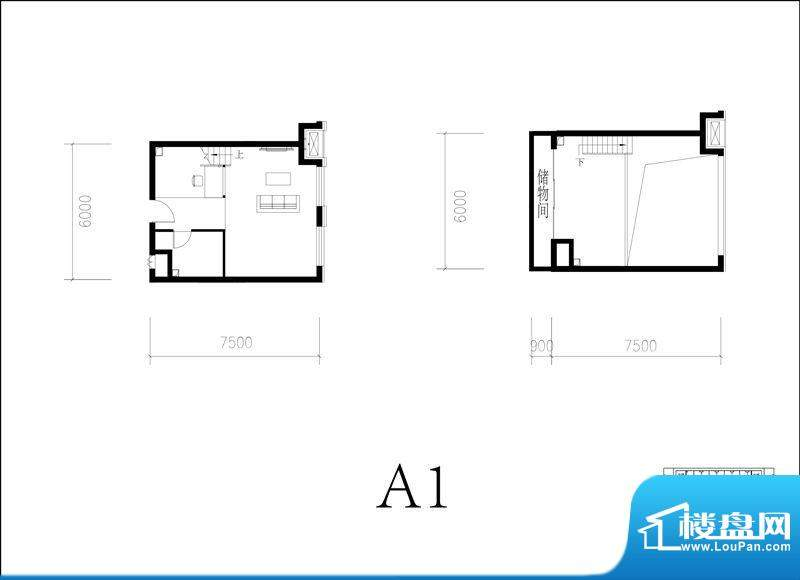 北京城建·N次方21#综合楼A1开面积:65.00平米