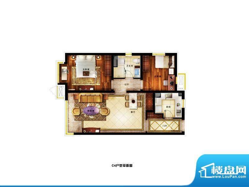润景公馆精装C4户型-改 3室2厅