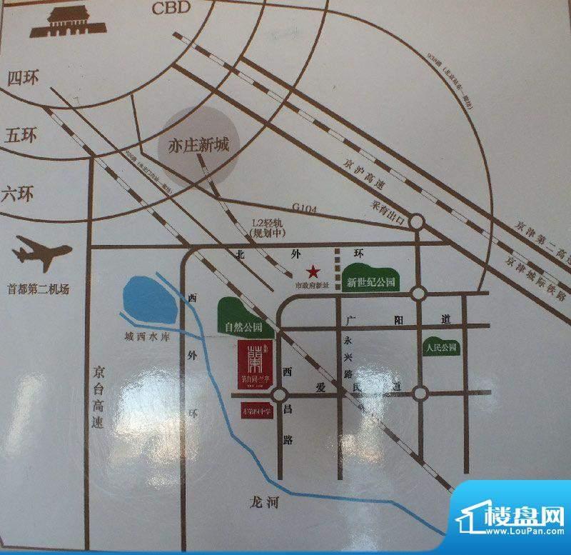 华夏第九园·兰亭交通图