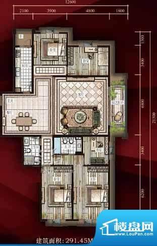 西单上国阙户型图 4室2厅2卫1厨面积:291.45平米