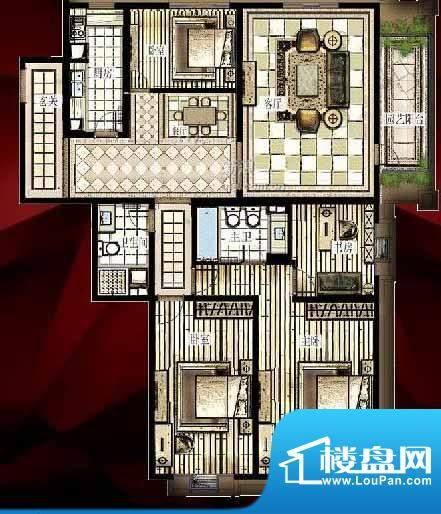 西单上国阙E1户型 4室2厅2卫1厨