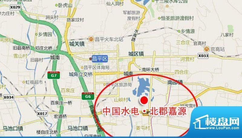中国水电·北郡嘉源交通图