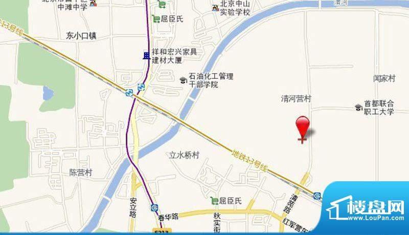 华贸城铂金墅位置图