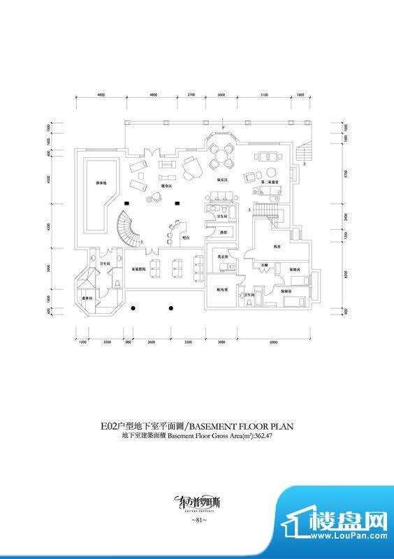 东方普罗旺斯E2地下室户型图 1面积:362.47平米