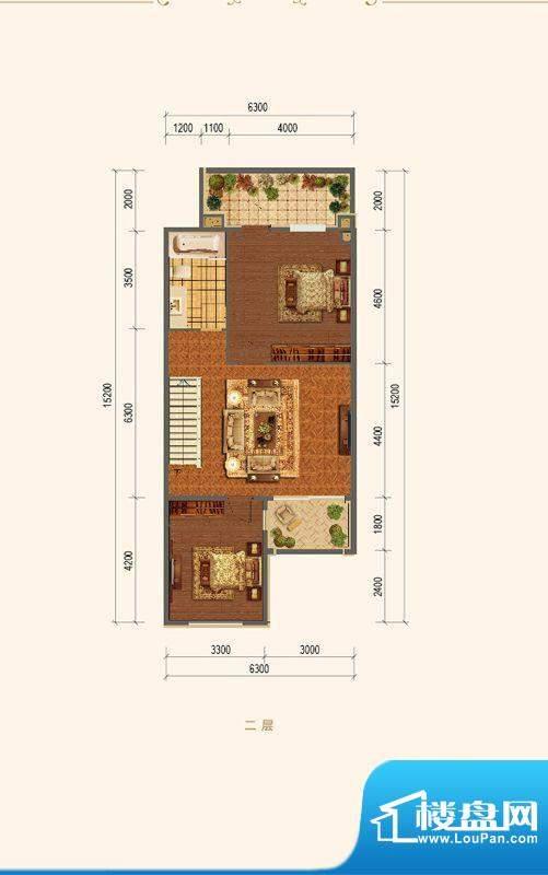 融创长滩壹号D-08二层户型图 2