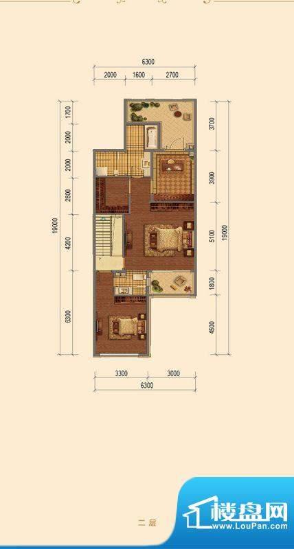 融创长滩壹号B-04二层户型图 2