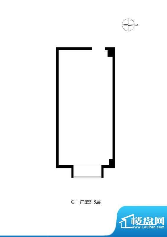 绿城阳光公馆办公C'户型图