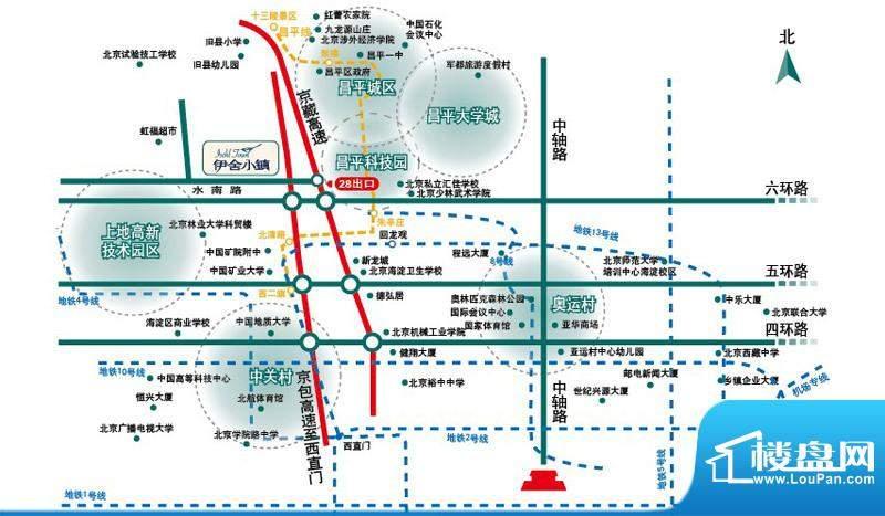 伊舍小镇交通图
