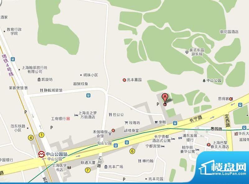 兆丰嘉园二期园林一品交通图