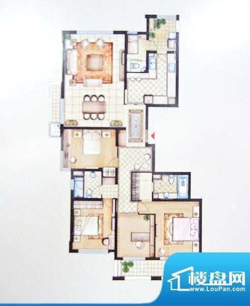 兆丰嘉园二期园林一品户型图 4面积:203.99平米