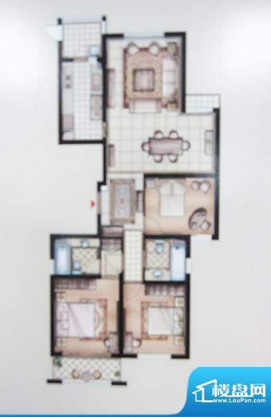 兆丰嘉园二期园林一品户型图 3面积:153.85平米