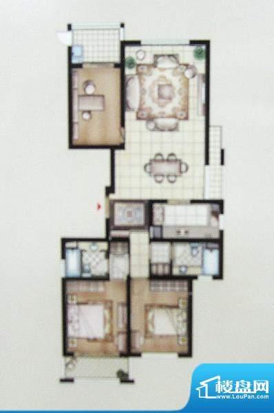 兆丰嘉园二期园林一品户型图 3面积:162.22平米