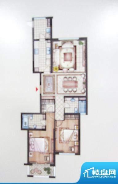 兆丰嘉园二期园林一品户型图 2面积:139.10平米