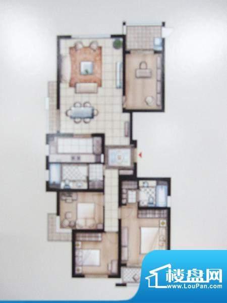 兆丰嘉园二期园林一品户型图 4面积:174.35平米