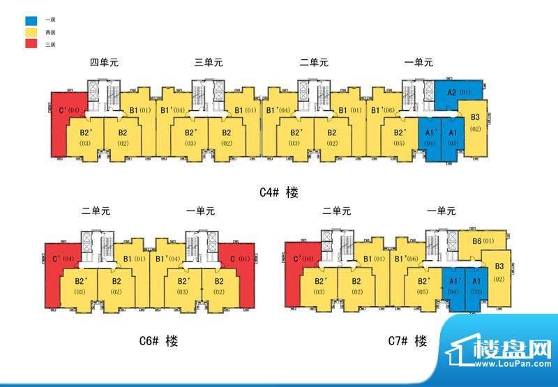 建工双合家园c2-01楼座图