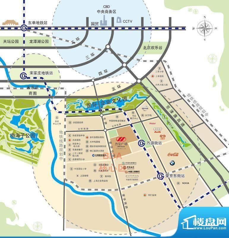 力宝广场·诗礼庭交通图