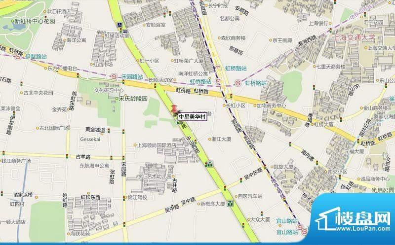 中星美华村交通图