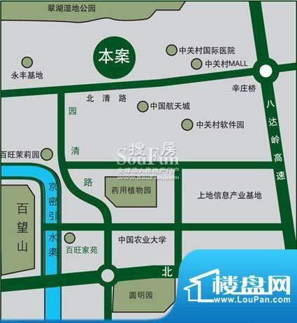 百旺杏林湾(永丰嘉园交通图