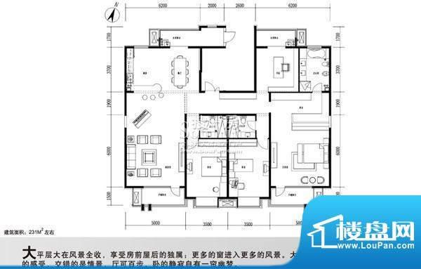 百旺杏林湾(永丰嘉园)户型图 4面积:231.00平米