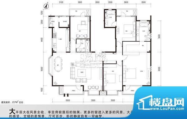百旺杏林湾(永丰嘉园)户型图 4面积:237.00平米