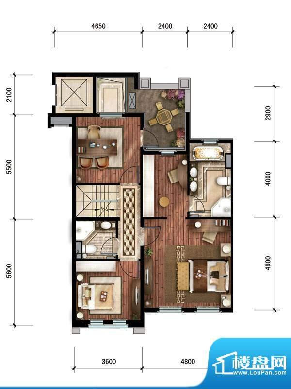 中建·红杉溪谷上叠私密起居层面积:211.00平米
