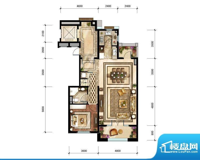 中建·红杉溪谷上叠轩敞会客层面积:211.00平米