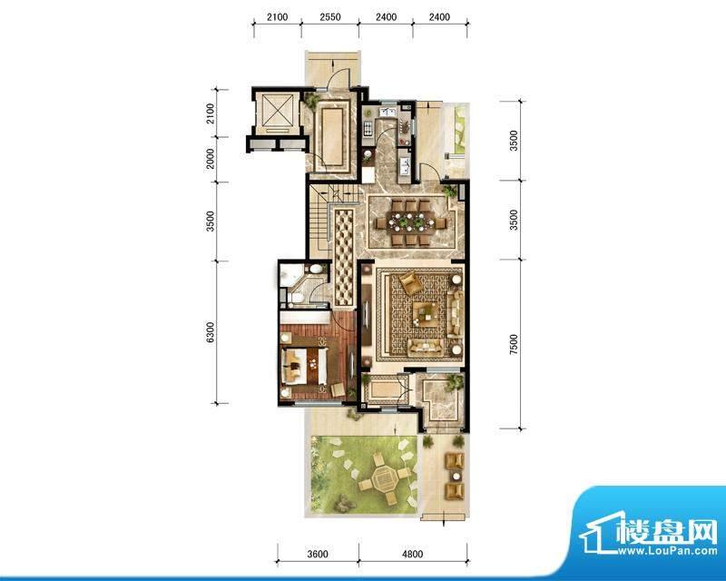 中建·红杉溪谷下叠轩敞会客层面积:192.00平米