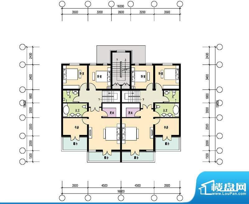 恒盛·藝墅叠拼二层平面图 6室
