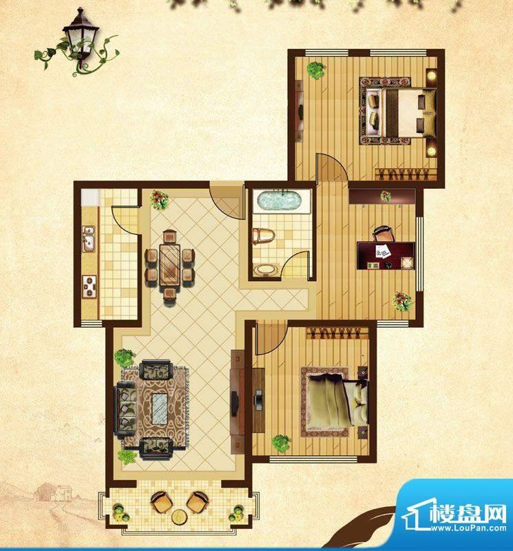 米拉village02\\03户型 3室2厅面积:87.86平米