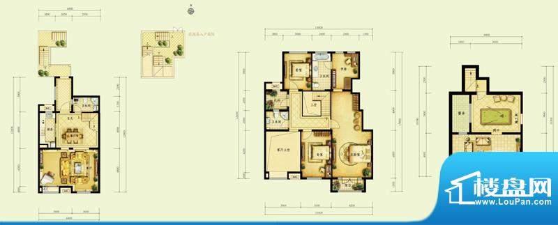 金地仰山D2户型图 4室2厅3卫1厨面积:181.00平米