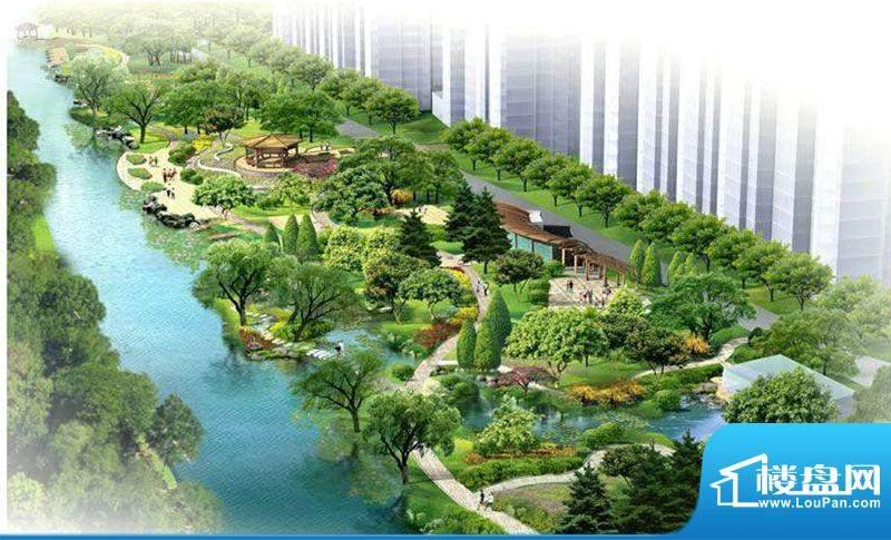 森林都市二期小区园林效果图