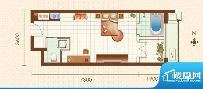 金科·巴登假日1号楼d户型图 1面积:47.96平米