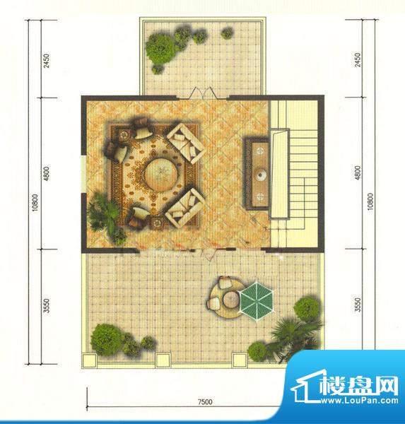 龙湖·香醍溪岸V-T三层 1厅1卫面积:411.00平米